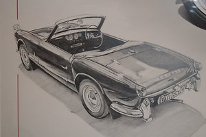 Page 3 - Automobilia. Triumph Spitfire by Chris Dugan pencil